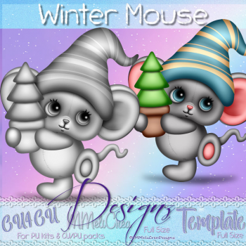 Winter Mouse Template
