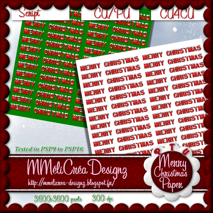 Merry Christmas Paper Script