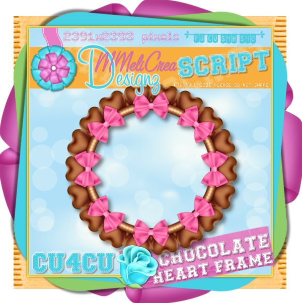 Chocolate Hearts Frame Script