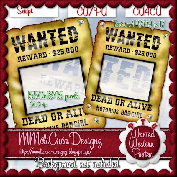 Wanted Western Poster Script
