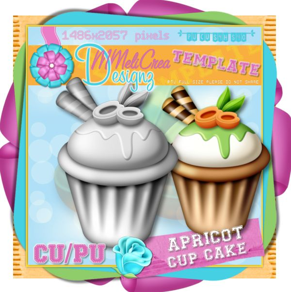Apricot Cup Cake Template