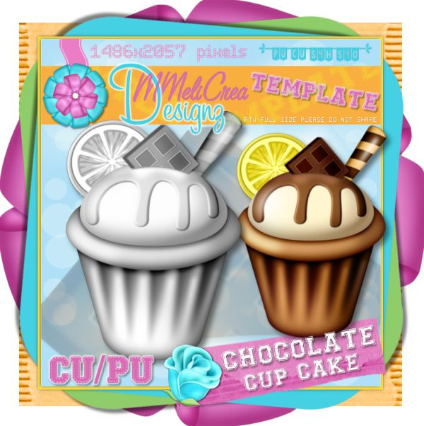 Chocolate Cup Cake Template