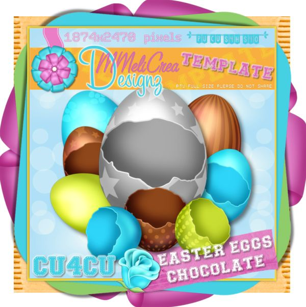 Easter Chocolate Eggs Template