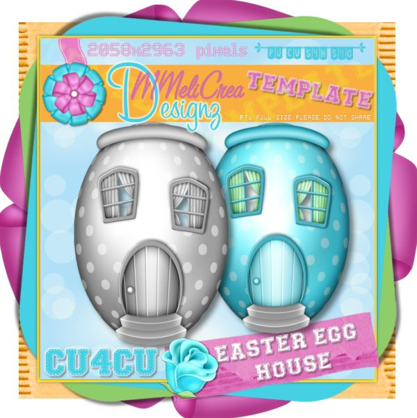 Easter Egg House Template