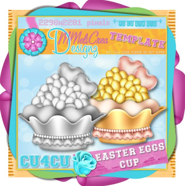 Easter Eggs Cup Template
