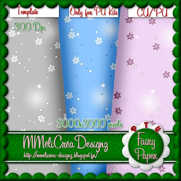Fairy Paper Template
