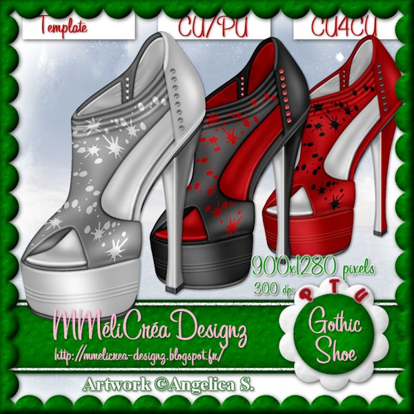 Gothic Shoe Template