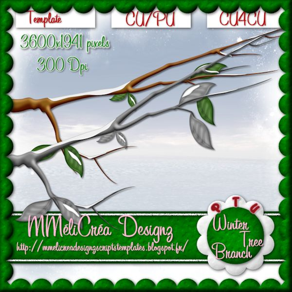 Winter Tree Branch Template