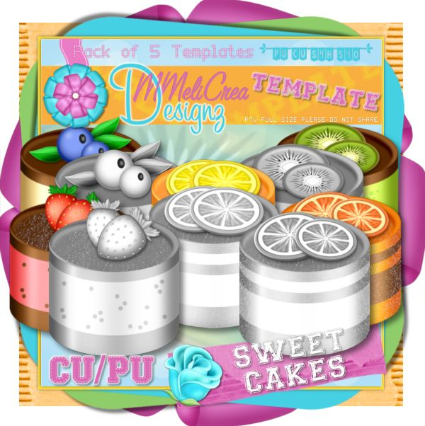 Templates Pack - Sweet Cakes