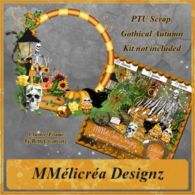 Gothical Autumn Cluster Frame By Betty