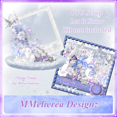 Let It Snow Cluster Frame By Betty