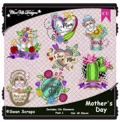 Mother's Day Elements CU/PU Pack
