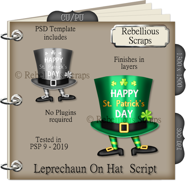 Leprechaun On Hat Script