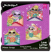 Love Letter Kitties Elements CU/PU Pack 3