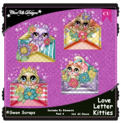 Love Letter Kitties Elements CU/PU Pack 6