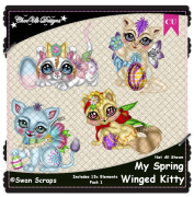 My Spring Winged Kitty Elements CU/PU Pack