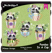 Pandas In A Cup Elements CU/PU Pack 1