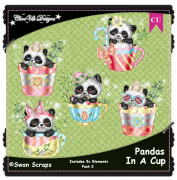 Pandas In A Cup Elements CU/PU Pack 2