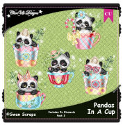 Pandas In A Cup Elements CU/PU Pack 3