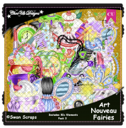 Art Nouveau Fairies Elements CU/PU Pack 3