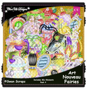 Art Nouveau Fairies Elements CU/PU Pack 4