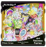 Art Nouveau Fairies Elements CU/PU Pack 6