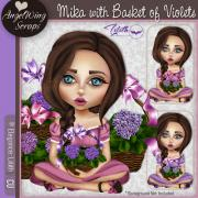 Mika with Basket of Violets (c) Elegance: Lilith