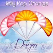 Jelly Pop Orange Script