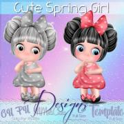 Cute Spring Girl Template
