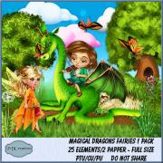 Magical Dragons Fairies 1 Pack
