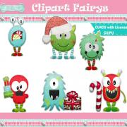 Christmas Monster Stickers