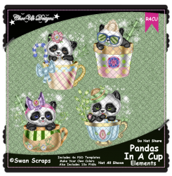 Pandas In A Cup Elements R4CU Pack