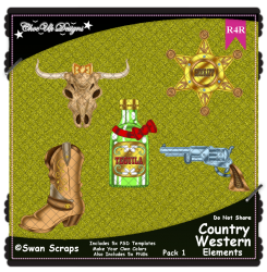 Country Western Items Elements R4R Pack 1