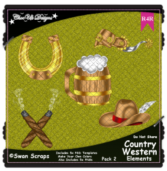 Country Western Items Elements R4R Pack 2
